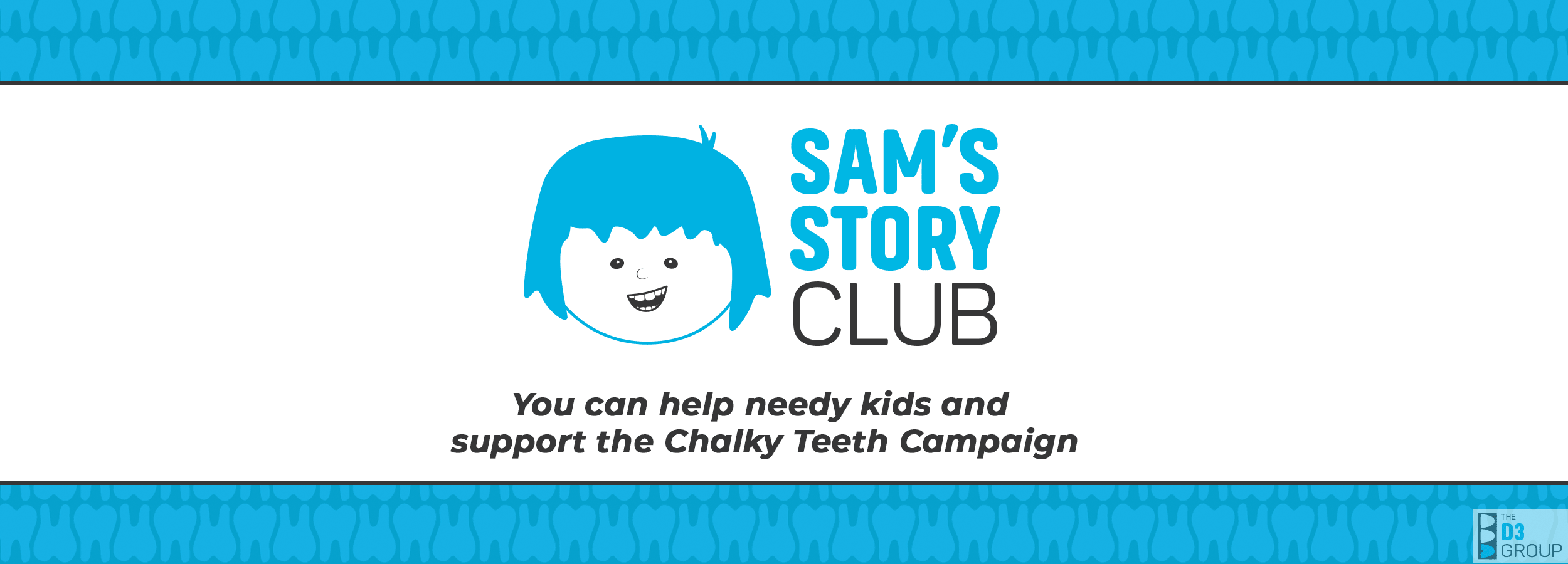 Sam's Story Club - A socially impactful way to help children, medico-dental research, and education worldwide - Main Banner Image